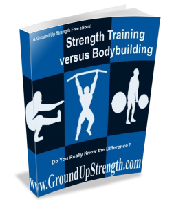 strength training versus bodybuilding book cover